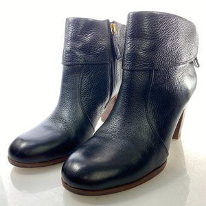 KATE SPADE Boots 8 M Black Leather Heeled Ankle
